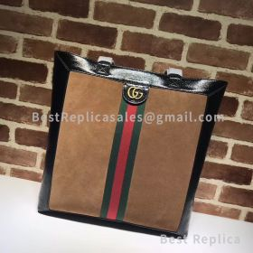 Gucci Ophidia Suede Large Tote Coffee 519335