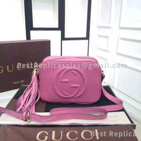 Gucci Soho Small Leather Disco Bag Pink 308364