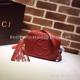 Gucci Soho Small Leather Disco Bag Red 308364