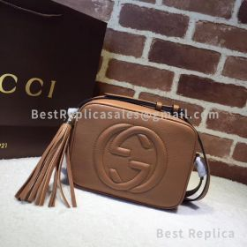 Gucci Soho Small Leather Disco Brown Bag 308364