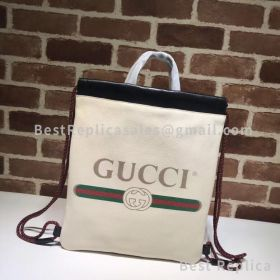 Gucci Gucci Print Small Drawstring Backpack White 523586