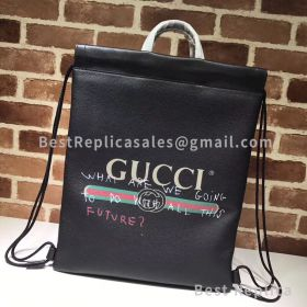 Gucci Coco Capitan Logo Backpack Black 494053
