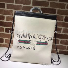 Gucci Coco Capitan Logo Backpack White 494053