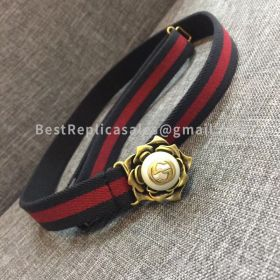 Gucci Belt Red And Blue 25mm