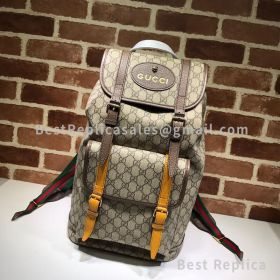 Gucci Courrier Soft GG Supreme Backpack Brown 473869