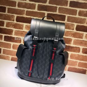 Gucci Soft GG Supreme Backpack Black 495563