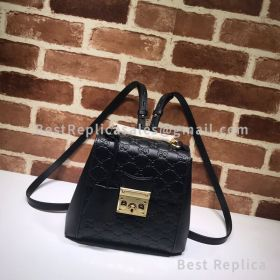 Gucci Padlock Signature Backpack Black 498194