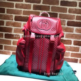 Gucci Dapper Dan Backpack Red 536413