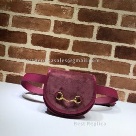 Gucci Suede Belt Bag With Horsebit Red 384820