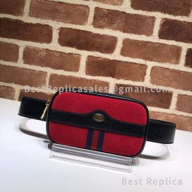 Gucci Ophidia Suede Belted Iphone Case Red 519308