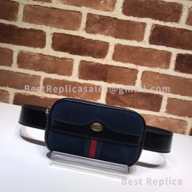Gucci Ophidia Suede Belted Iphone Case Blue 519308