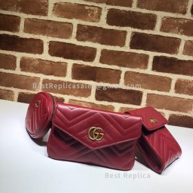 Gucci GG Marmont Matelasse Belt Bag Red 524597