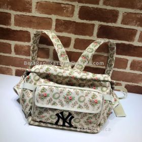 Gucci Belt Bag With NY Yankees Patch White 536842