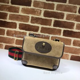 Gucci Suede Small Messenger Bag Brown 501050