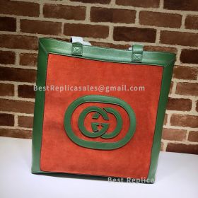 Gucci Ophidia Suede Large Tote Orange 519335