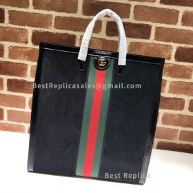 Gucci Ophidia Suede Large Tote Black 524536