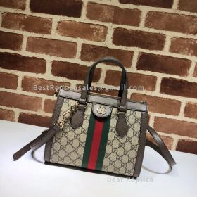 Gucci Ophidia Small GG Tote Bag Brown 547551