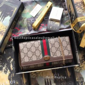 Gucci Ophidia GG Chain Wallet Brown 546592