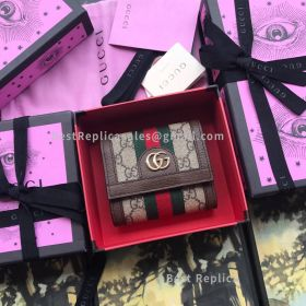 Gucci Ophidia GG Wallet Brown 523174