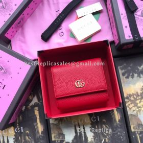 Gucci GG Marmont Leather Wallet Red 546584