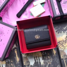Gucci GG Marmont Leather Wallet Black 546584