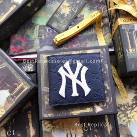 Gucci Wallet With NY Yankees Patch Blue 547787