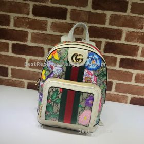 Gucci Ophidia GG Flora Small Backpack White 547965
