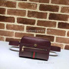 Gucci Ophidia Small Leather Belt Bag Wine 517076