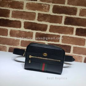 Gucci Ophidia Small Leather Belt Bag Black 517076