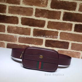 Gucci Ophidia GG Leather Belted Iphone Case Wine 519308