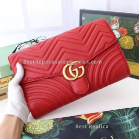 Gucci GG Marmont Clutch Red 498079