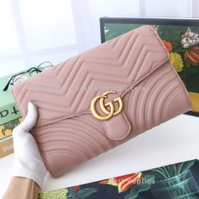 Gucci GG Marmont Clutch Nude 498079