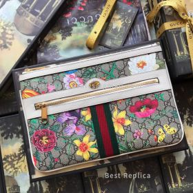 Gucci Ophidia GG Flora Pouch White 517551