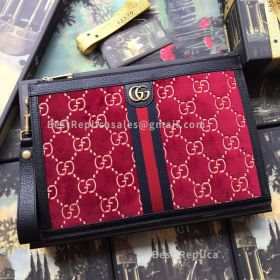 Gucci GG Velvet Pouch Red 575371