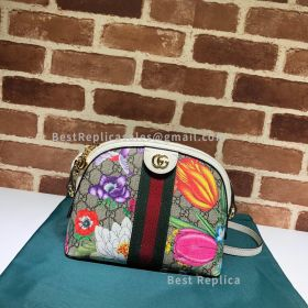 Gucci Ophidia GG Flora Small Shoulder Bag White 499621