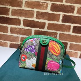 Gucci Ophidia GG Flora Small Shoulder Bag Green 499621