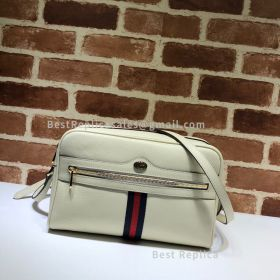 Gucci Ophidia GG Small Shoulder Bag White 517080