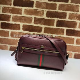 Gucci Ophidia GG Small Shoulder Bag Wine 517080