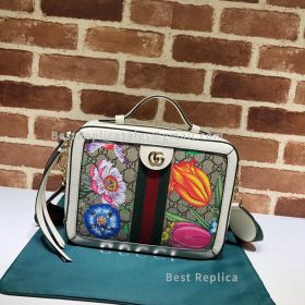 Gucci Ophidia GG Flora Small Shoulder Bag White 550622