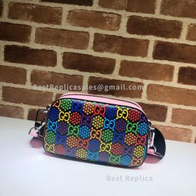 Gucci Small GG Psychedelic Shoulder Bag Pink 574886