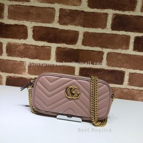 Gucci GG Marmont Leather Crossbody Nude Bag 598596
