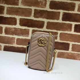 Gucci GG Marmont Mini Bag Dust Pink 598597
