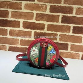 Gucci Ophidia GG Mini Backpack Flowers Red 598661