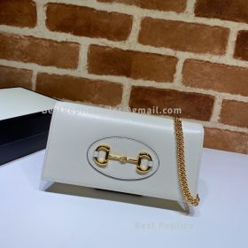 Gucci Horsebit 1955 Wallet With Chain White 621892