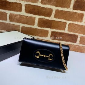 Gucci Horsebit 1955 Wallet With Chain Black 621892