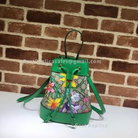 Gucci Ophidia GG Flora Small Bucket Bag Green 550621