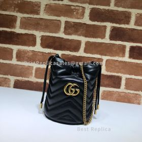 Gucci GG Marmont Mini Bucket Bag Black 575163