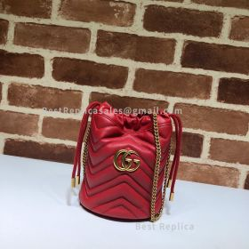 Gucci GG Marmont Mini Bucket Bag Red 575163