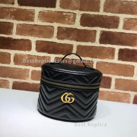 Gucci GG Marmont Small Cosmetic Case Black 611004
