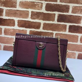 Gucci Ophidia Small Shoulder Bag Wine 503877